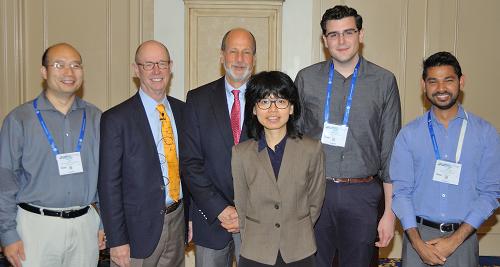 Young Investigators Award Left to right: Hening Lin, Larry Marnett, Marc Greenberg, Yimon Aye, Jesse R. Poganik, Saba Parvez